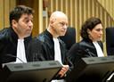 De rechtbank in het MH17-proces. In het midden voorzitter Hendrik Steenhuis.