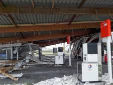 Luifel tankstation Selnisse stortte in door vocht en ouderdom