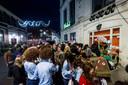 Een flinke rij aan de Noorderhagen bij een eerdere editie van het Hubertusfeest
