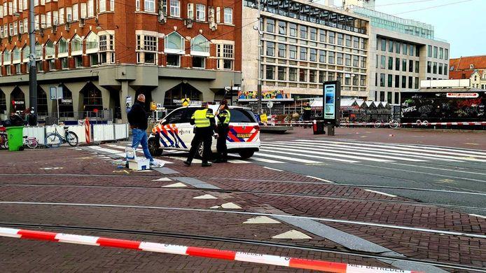 Het Muntplein is afgezet door de politie.