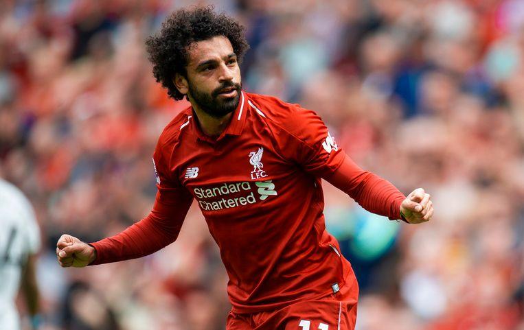 Salah meteen aan het feest.