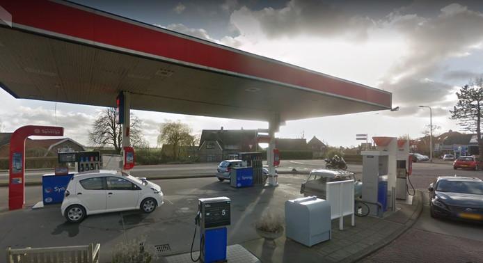 Het tankstation van Esso aan de Goudsestraatweg in Oudewater dat vorig jaar werd overvallen.