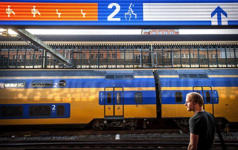 Een trein op station Den Bosch.