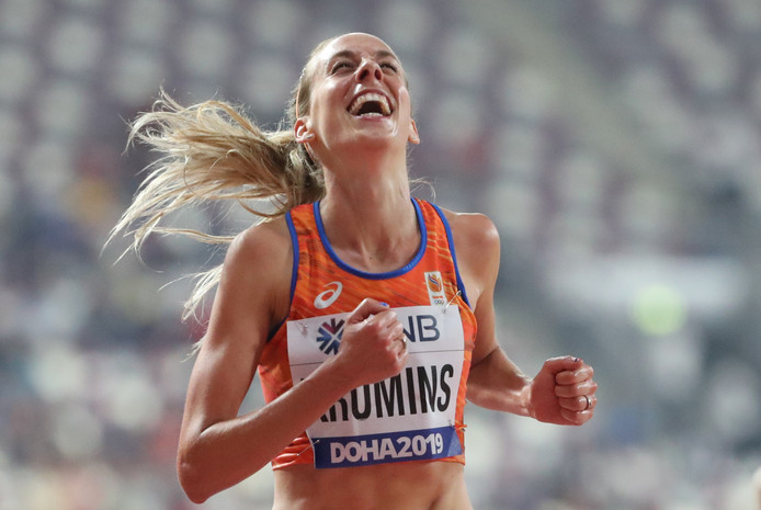 Susan Krumins wordt zevende op de laatste WK atletiek in Qatar.