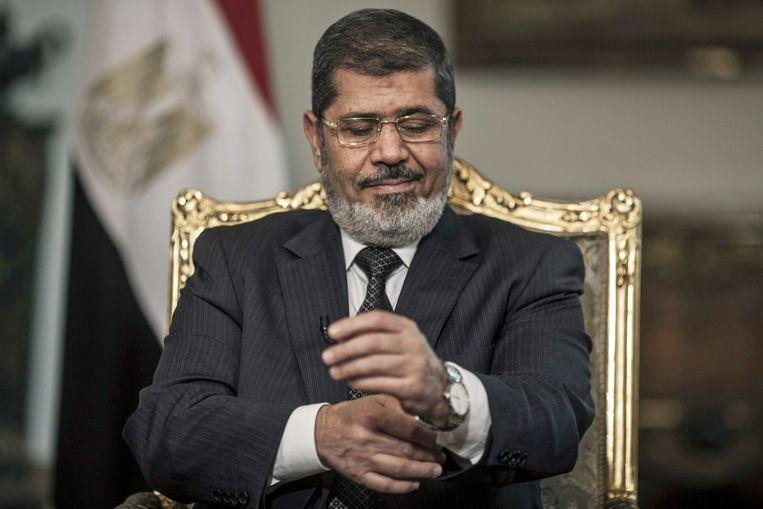 Mohamed Morsi tijdens zijn presidentschap. Beeld epa