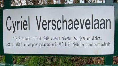 """Cyriel Verschaevelaan in Zoersel blijft bestaan: """"We willen hem niet eren, wel de geschiedenis duiden"""""""