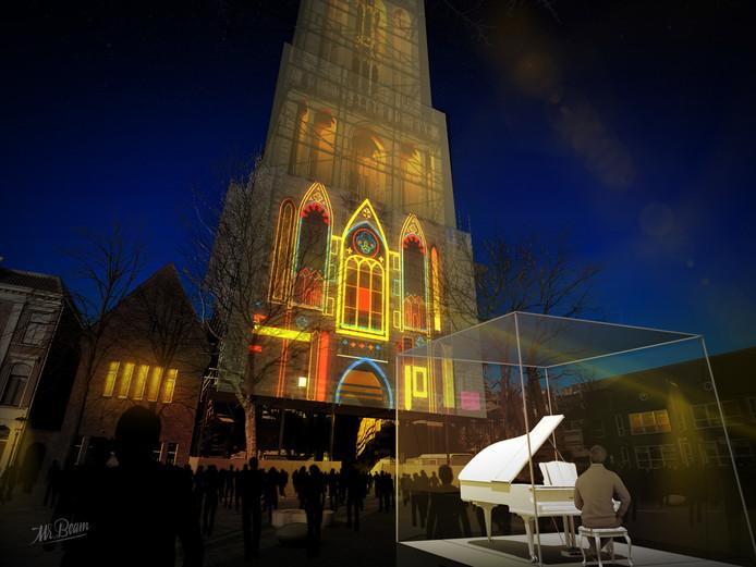 De Dom schijnt zijn licht over de bezoekers van het Keys of Light evenement afgelopen jaar.