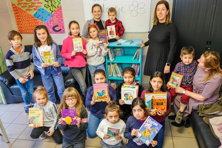 Eén van de kinderboekenruilkasten in Beringen.