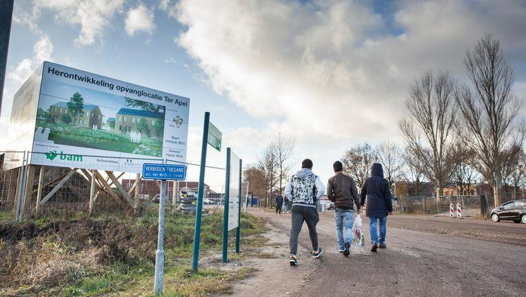 Een aantal asielzoekers in Ter Apel. Beeld Harry Cock / de Volkskrant