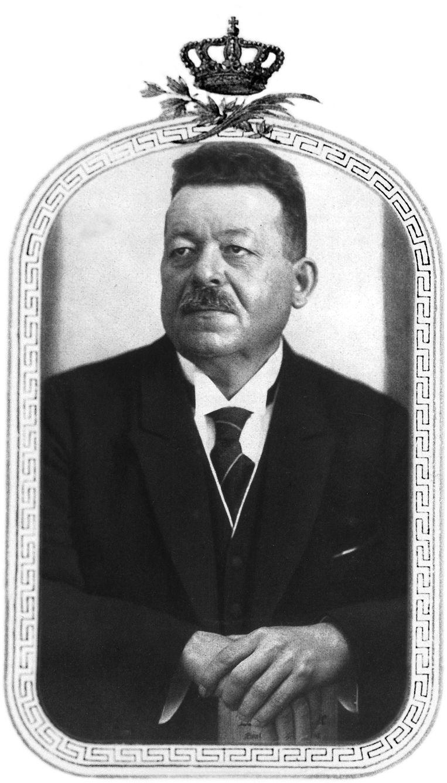 Friedrich Ebert (1871-1925) , na de val van het keizerrijk de eerste president van de Weimarrepubliek. Beeld Getty