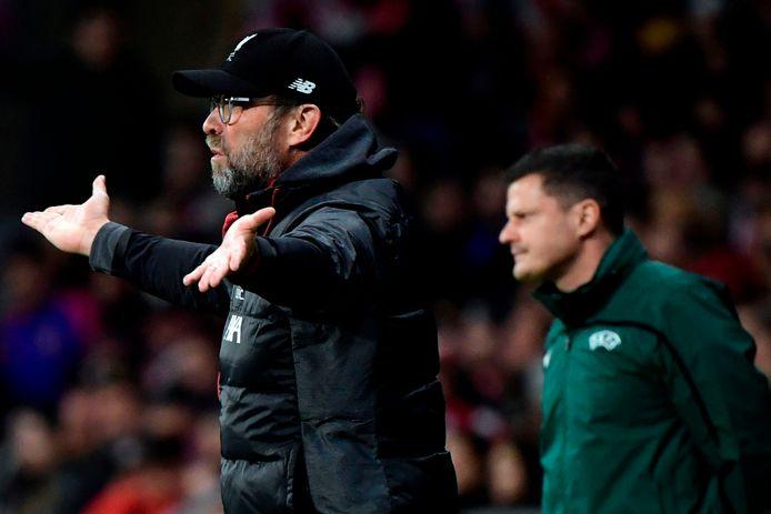 Coach Jürgen Klopp van Liverpool kon weinig positiefs zeggen over Atlético Madrid, dat volgens hem weinig spectaculair voetbal op de mat legde.