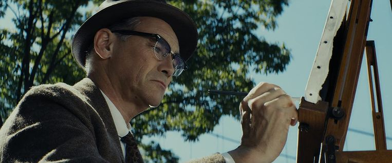 Mark Rylance in Bridge of Spies van Steven Spielberg. Beeld