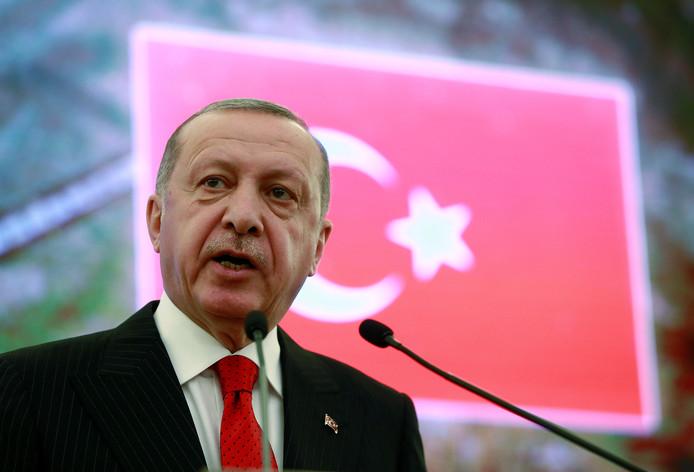 De Turkse president Erdogan op archiefbeeld.