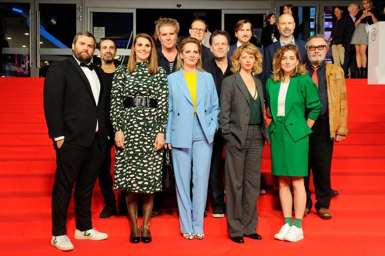 De cast, scenaristen en regisseur van 'De Twaalf op het Filmfestival van Gent.