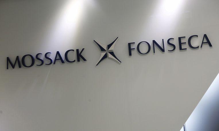 Het logo van advocatenkantoor Mossack Fonseca.