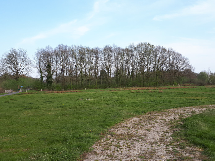 Geen grote stapel hout  op de vaste paasvuurlocatie in Hellendoorn. De Stichting Oald Heldern De Noaberschop heeft het evenement geschrapt vanwege een 'onaanvaardbaar veiligheidsrisico'.