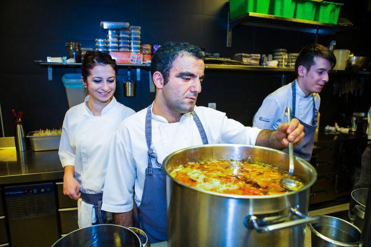 In de keuken van het ambitieuze restaurant Gile, waar wordt gekookt op het niveau van een Michelinster. Beeld Cigdem Yuksel
