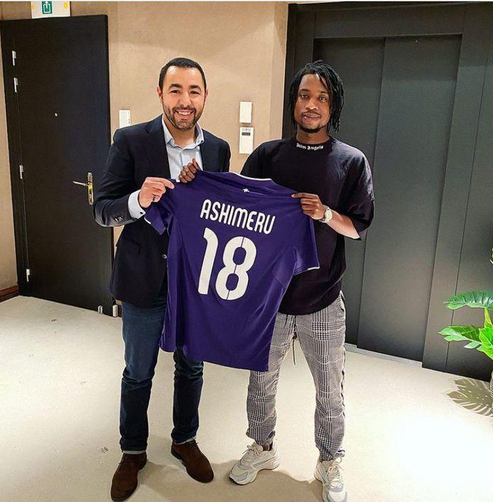 Ashimeru tekent bij Anderlecht.
