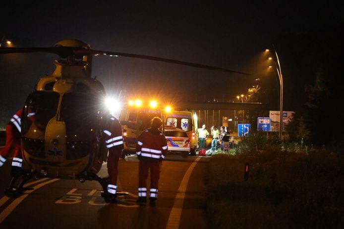 Traumahelikopter geland op N261