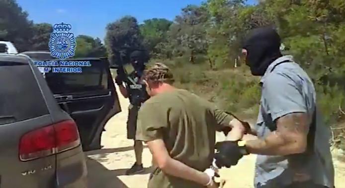 Brech tijdens zijn arrestatie in Spanje