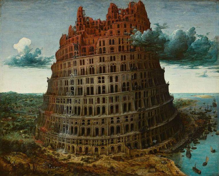 Pieter Bruegel - Toren van Babel (1563). Beeld Collectie Museum Boijmans Van Beuningen in Rotterdam