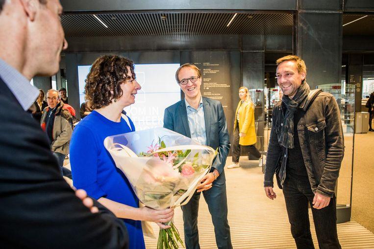 Koen Van Durme is de 1.111.111ste bezoeker van de nieuwe bib.
