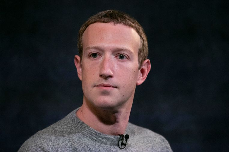 Topman Mark Zuckerberg van Facebook.