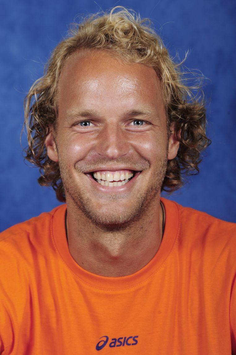 Floris Evers ex-international en speler Amsterdam. Beeld null