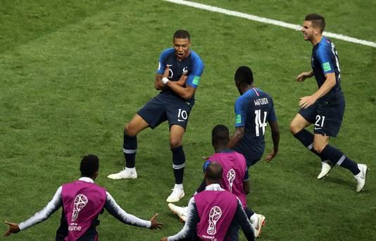 Vreugde bij de Fransen.