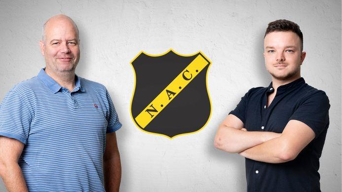 Clubwatchers Max van der Put en Dennis Kas.