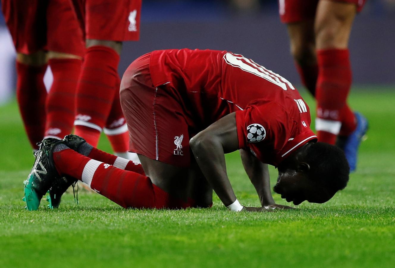 Sadio Mané kust de grond na de 0-1.