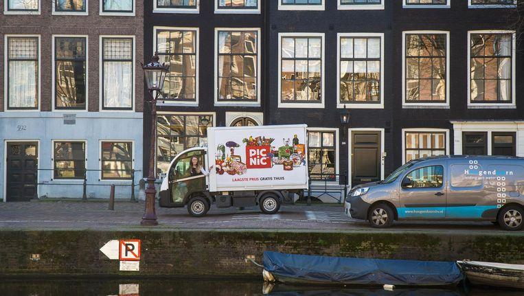 Bezorgsuper Picnic komt naar Amsterdam, maar nog even niet naar de grachtengordel Beeld Picnic