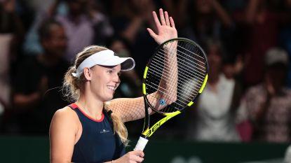 Caroline Wozniacki pakt eerste zege op WTA Finals