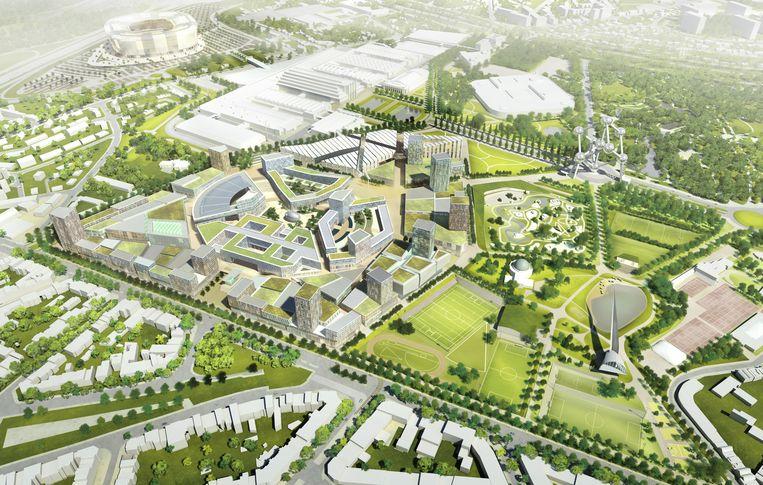 Een 3D-beeld van het NEO-Europea-project.