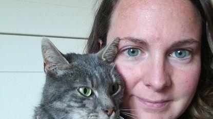 Tine vond haar vermiste kat Wieske in een kooi midden de velden terug. Andere huiskat met hagel beschoten