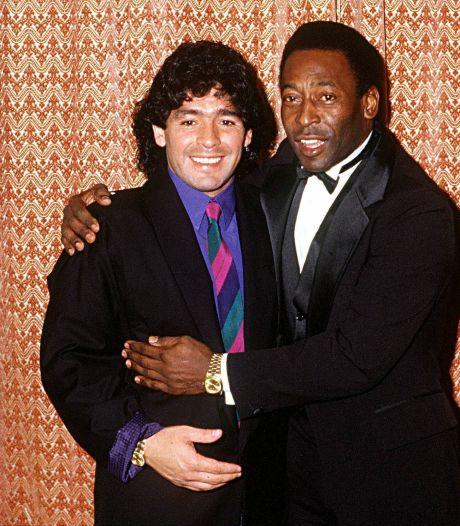 Pelé in rouw om Maradona: 'Verdrietig dat ik op deze manier mijn vriend heb verloren'