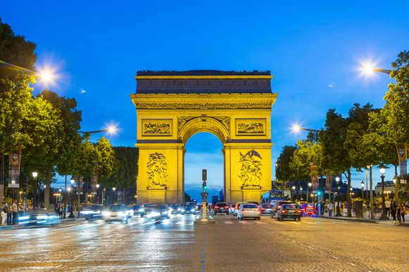 De beroemde Champs-Élysées in Parijs