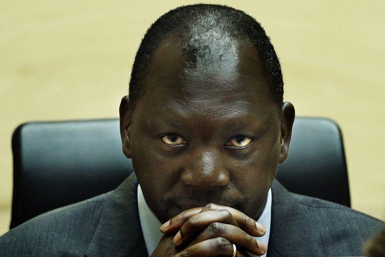 Thomas Lubanga tijdens zijn proces voor het Internationaal Strafhof in Den Haag. Beeld EPA