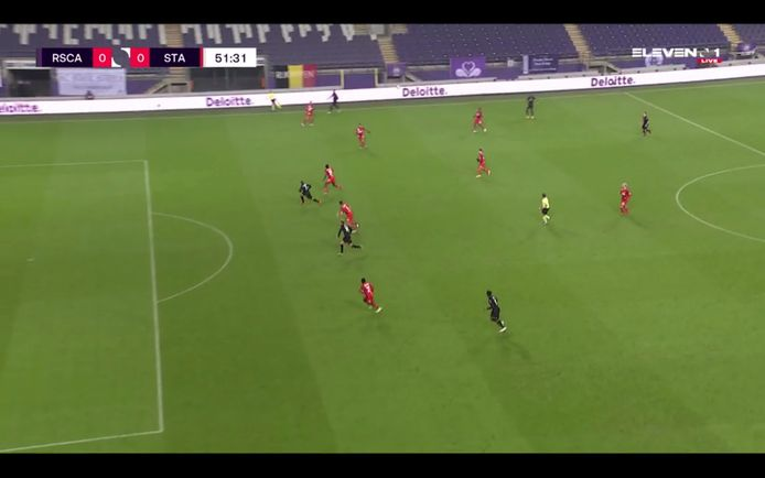 Le hors-jeu de Lukas Nmecha qui a privé Anderlecht du but d'ouverture.