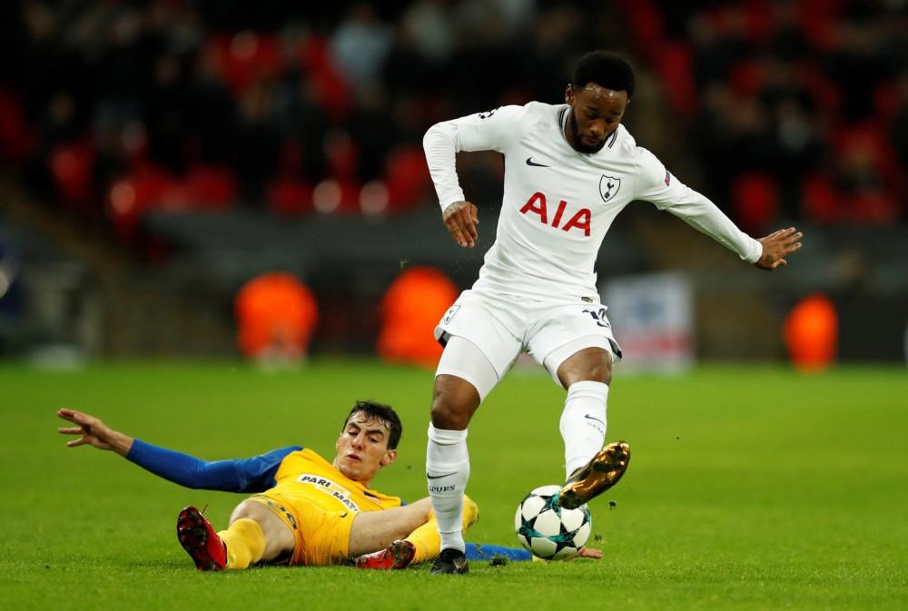 N'Koudou in actie namens Tottenham Hotspur.