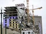 Bijna voltooid hotel in New Orleans stort in