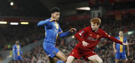 Sepp van den Berg scoort eerste doelpunt namens Liverpool, maar winnen is er niet bij