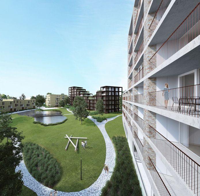 Een toekomstbeeld van het woonproject dat de firma Condius wil realiseren in de Lierse Bosstraat.