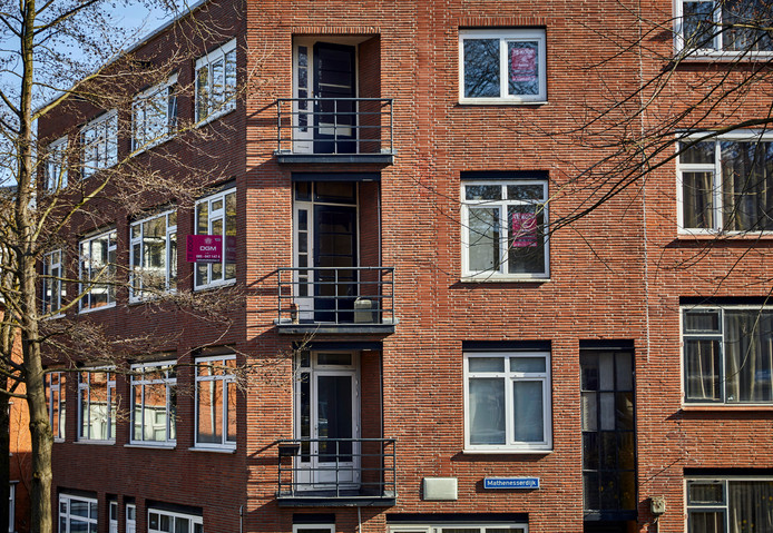 Woningen op de Mathenesserdijk in Rotterdam.