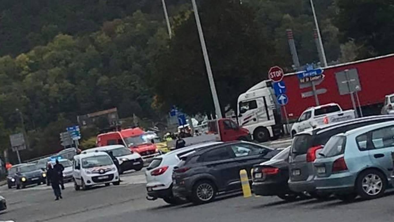 L'accident s'est produit vers 14h, ce jeudi.