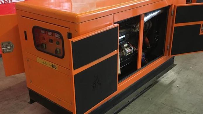 Een van de generatoren waarin de drugs zijn gevonden.