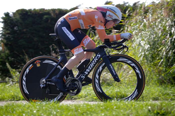 Bij de afsluitende tijdrit in Roosendaal stelde Anna van der Breggen de derde plaats in het eindklassement van de Ladies Tour veilig.