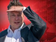Tesla crasht op de beurs: aandeel maakt koersval van 21 procent op één dag