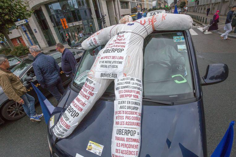 Tien dagen geleden betoogden taxibestuurders van Brussel nog tegen Uber.