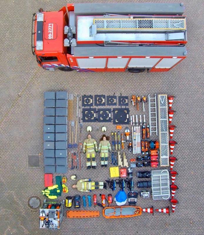 De Tetris-Challenge van de brandweer in Nieuwegein.